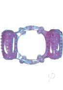 Humm Dinger Double Dinger Dual Vibrating Cockring Purple