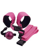 Adam And Eve Sinners Sex Straps And Ball Gag Pink