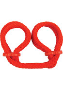 Japanese Silk Love Rope Wrist Cuffs Red