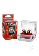 Ben Wa Balls With Crystalline Carrying Case - Gold