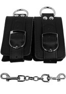 Strapped Plush Restraints - Black