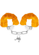 Neon Furry Cuffs Orange