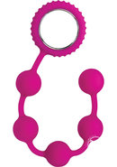Sinful Anal Beads Silicone - Pink