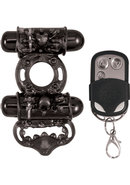 Macho Remote Control Dual Vibe Cockring Waterproof Black