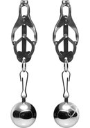 Master Series Deviant Monarch Weighted Nipple Clamps -...