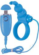 Ozone Rechargeable Cockring Bunny Waterproof Blue