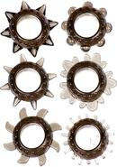 Link Tickler Ring Set Assorted Textured Cockrings (6 Pack)...