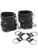 Sportsheets Hog Tie And Cuff Set (5 Piece) - Black