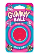Gummy Ball Finger Vibrator - Red