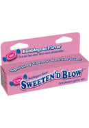 Sweeten D Blow Oral Pleasure Gel Bubblegum 1.5 Ounce