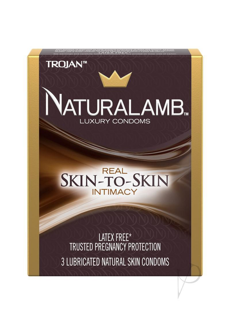 Trojan Naturalamb Luxury Condoms Lubricated 3 Pack