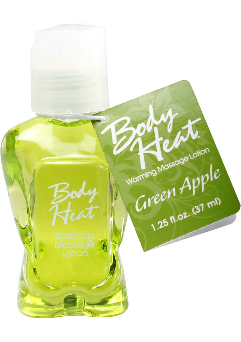 Body Heat Edible Warming Massage Lotion Green Apple 1.25 Ounce