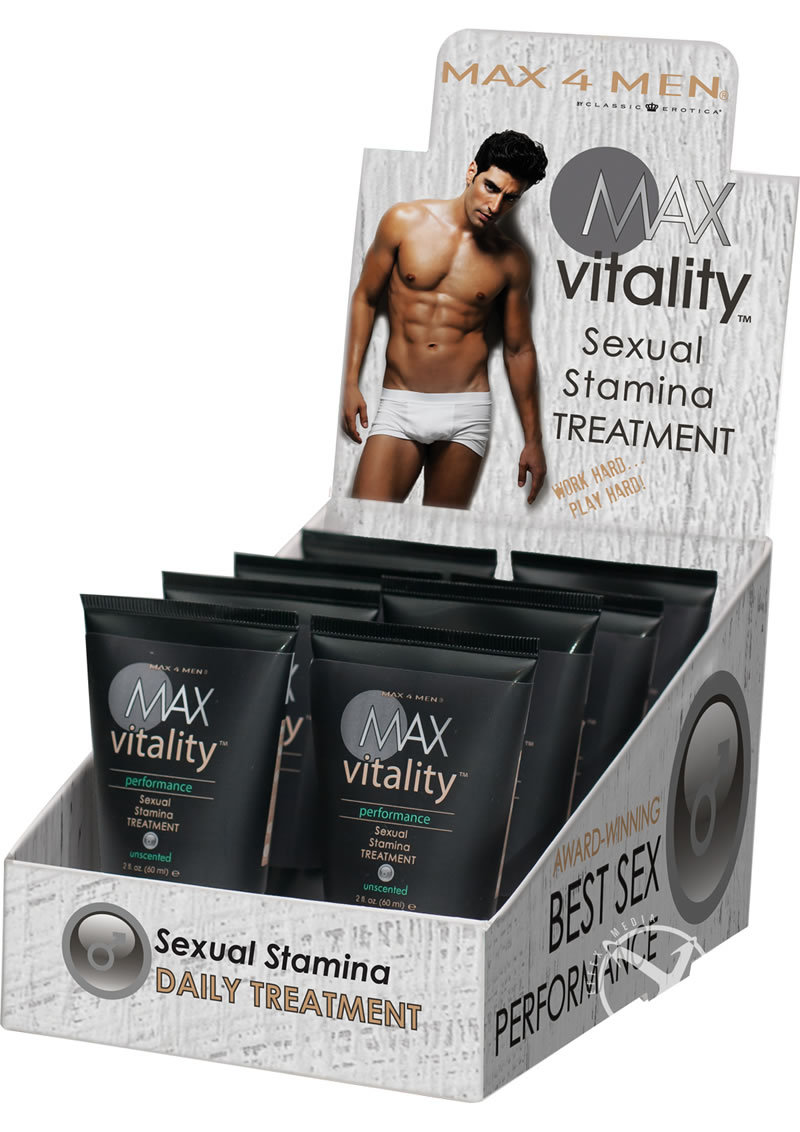 Max 4 Men Max Vitality Performance Sexual Stamina Treatment 2 Ounce