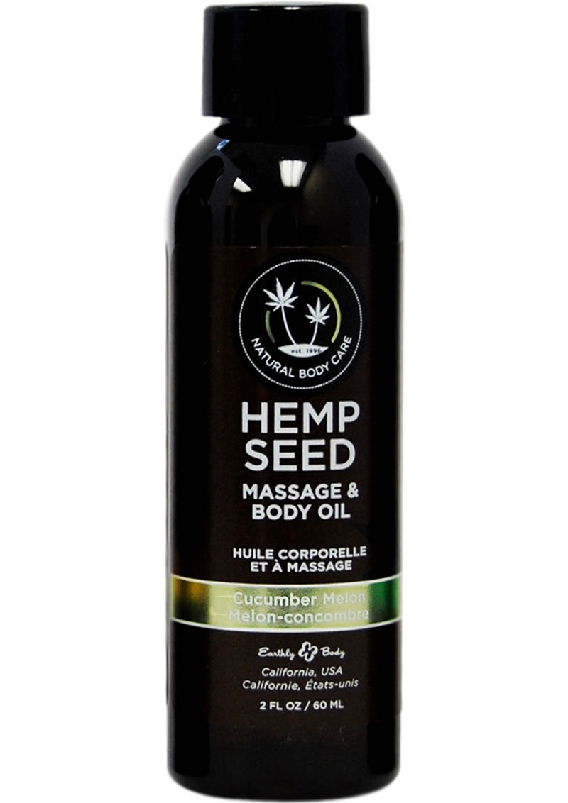 Hemp Seed Massage And Body Oil Cucumber-melon 2 Ounces