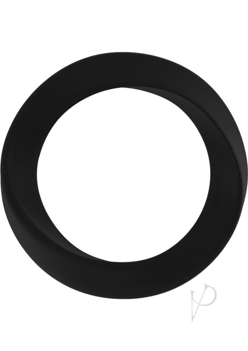 Mjuze Infinity Silicone Cock Ring Waterproof Black Thin Large