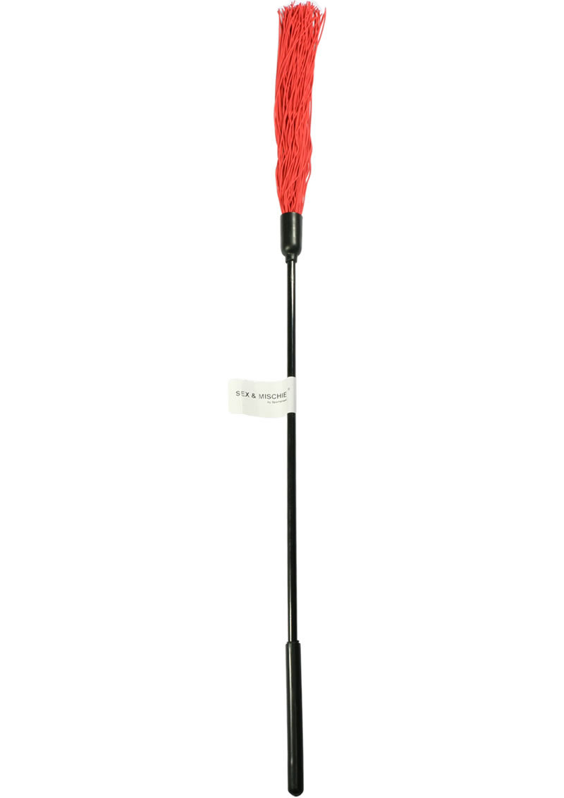 Sex And Mischief Rubber Tickler Red