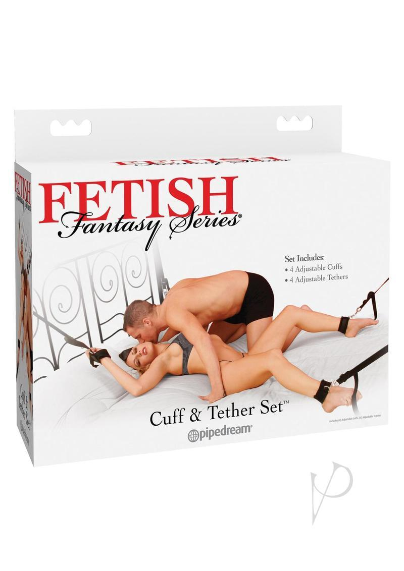 Fetish Fantasy Series Cuff And Tether Set Black